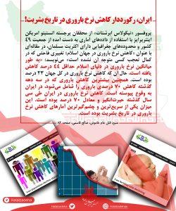 ایران رکورددار کاهش نرخ باروری در طول تاریخ بشریت!